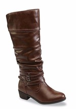 BONGO Women's Peyton Cognac Slouch Knee High Fashion Boots Size 8.5 US 4... - $18.80