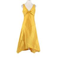 Mustard yellow DESIGNS BY DIANA DALLAS sleeveless vintage hi-lo dress S - $79.99