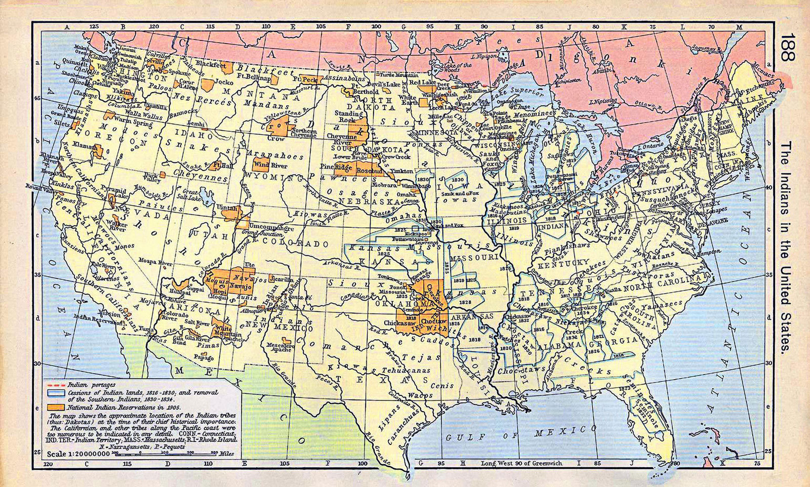 Historical Map Native Americans Until The Indians In The US - Us history map