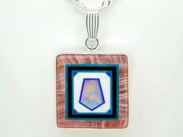 Jim Kaufmann Sterling Rhodochrosite Genuine Natural Opal Inlay Pendant (... - $550.00