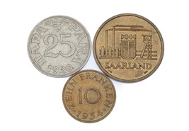 Lot of 3 Coins from Saarland & Yugoslavia 1920 - 1954 XF - XF+ Condition - $35.63