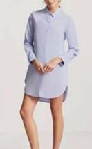 Forever 21 Button Down Dolphin Hem Long Sleeve Boyfriend Shirt Dress Blu... - $14.26