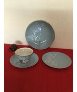 4 Piece Place Setting Flintridge China Reverie Strata Blue - $35.00