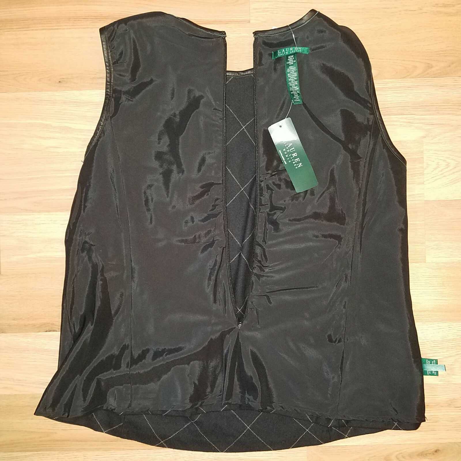new RALPH LAUREN women sweater vest black 16W - MSRP $185 image 10
