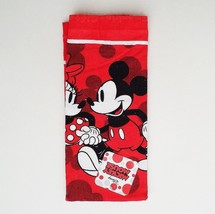 Disney Mickey Mouse Minnie Mouse Stroll Strolling Love Red Kitchen Towel - $8.61