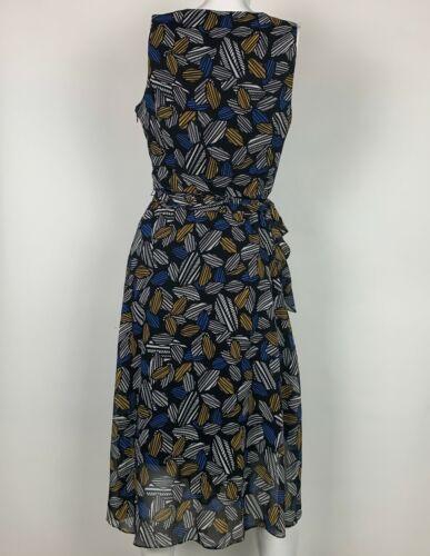 Anne Klein Dress Geometric Sleeveless Belt Multicolor Sz 12 NEW NWT image 4