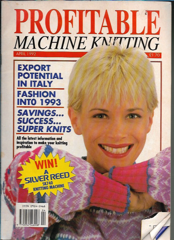 Profitable Machine Knitting Apr 1992 Magazine UK Patterns ...