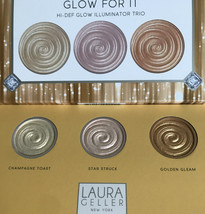 Laura Geller Glow For It Hi-Def Illuminator Trio NIB - $17.98