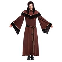 1791's lady Man's Halloween Medieval Gothic Wizard Male Religious Robes ... - $57.92