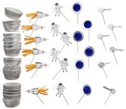 Meri Meri 'To The Moon' Space Themed Cupcake Kit (Inc. 24 Liners & 24 To... - $15.84