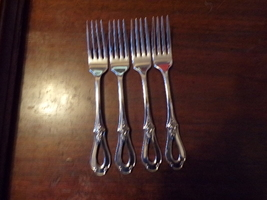 "4 Oneida Heirloom Cube Mark Toujours Dinner Forks 7 1/4"" (3) - $109.00"