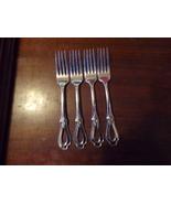 """4 Oneida Heirloom Cube Mark Toujours Dinner Forks 7 1/4"""" (3) - $109.00"""