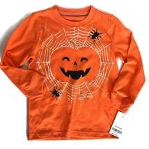 Carter's Halloween 3T Pumpkin Spider Web Orange Long Sleeve Toddler Shirt NWT - $10.89