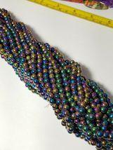"""7mm Rainbow Magnetic Hematite Round Beads 15.5"""" Strand image 3"""