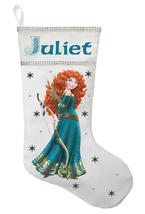 Princess Merida Christmas Stocking - Personalized and Hand Made Brave Ch... - $29.99