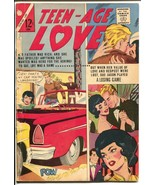 Teen-Age Love #32 1963-Charlton-auto crash cover-headlights-G - $27.74