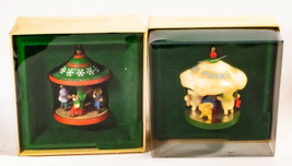 Vintage Hallmark Keepsake Christmas Carousel Ornaments 1982 And 1983 - $19.79