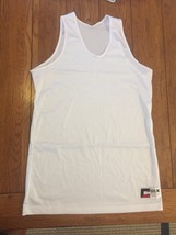 Med Cisco, Inc. Large White Mesh Tank Jersey Basketball Lacrosse New Lax... - $9.70