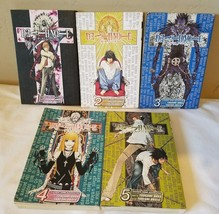 Lot Of 5 Deathnote Manga 1-5 1 2 3 4 5  SJ Advance Viz Media - $24.20
