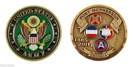 "ARMY FORT MCPHERSON GEORGIA 1.75"" CHALLENGE COIN  - $16.24"