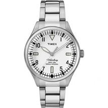 Timex Waterbury White Dial On Bracelet Watch Tw2r25400 - $95.00