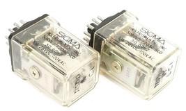 LOT OF 2 MAGNECRAFT SIGMA 50R0L3-120AC-SCO RELAYS 50R0L3120ACSCO image 1