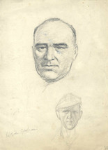 Robert Forrester - Mid 20th Century Graphite Drawing, Portrait of Rtison... - $20.90