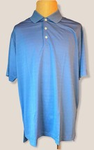 adidas Men's Climalite Textured Short Sleeve Polo Gulf XL - $34.64
