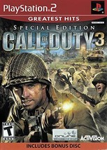 Call Of Duty 3 Speciale Edizione W/Omaggio Disco (Playstation 2) Greatest Hits - $7.07
