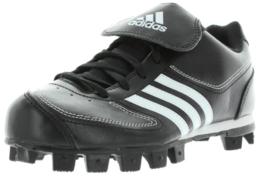 Adidas Tater 3 Größe 5 M MEDIUM (Y) Junge Kinder Baseball Klemme Schwarz Weiß - $21.03