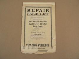 Hart Grain Weigher Co Ill Portable Elevators Bucket Horse Repair Price L... - $150.00