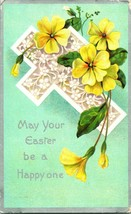 Vtg Postcard Winsch Embossed Cross w Buttercup Flowers - Easter Be a Hap... - $14.95