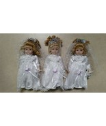 Porcelain Collectible Wedding Dress Baby Dolls Lot of 3 Fast Free USA Sh... - $49.02