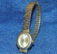 Vintage Rumours Ladies Wristwatch Quartz 4942 silver & gold tone UNTESTED - $11.69