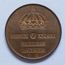 5 Ore - Gustav VI Adolf Sveriges Konung U Coin 1970 - $4.95