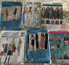 LOT 6 sewing patterns 2001-2010 sizes 4-16 NEW Uncut And Factory Folded - $20.00