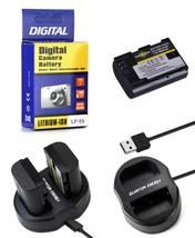 LP-E6 2000mAh Battery + Charger for Canon EOS 80D 6D 7D 70D 60D 5D Mark ... - $14.99