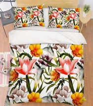 3D Flowers 209 Bed Pillowcases Quilt Duvet Cover Set Single Queen King S... - $64.32+