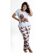 Dog Dachshund Wiener pajama set with pants for women - $35.00
