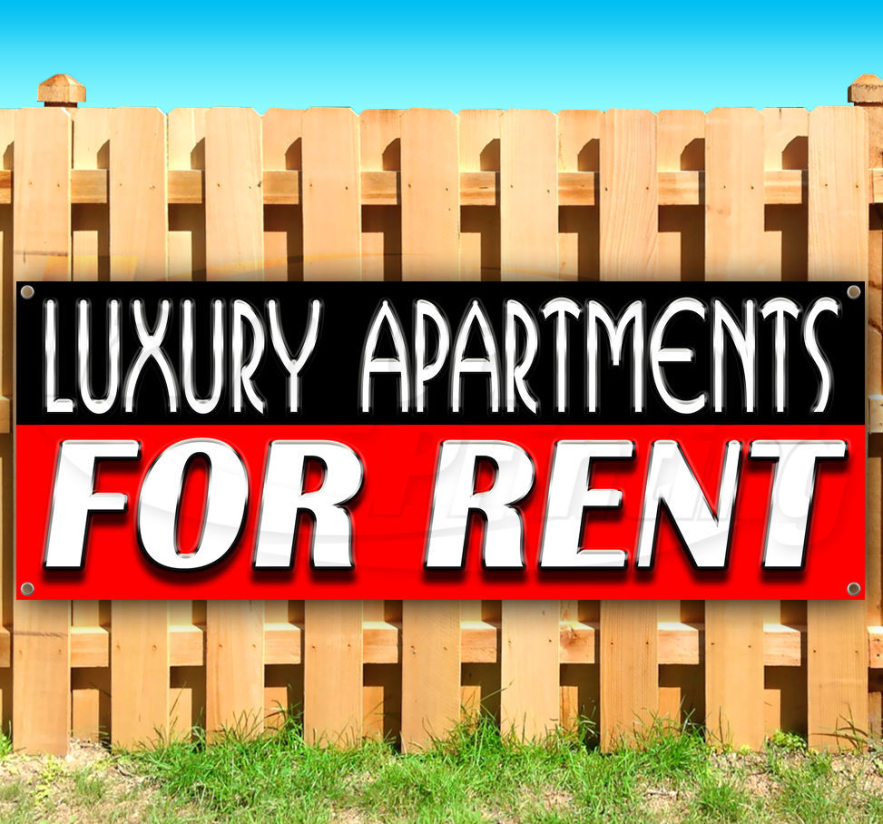 Apartment For Rent Sign: LUXURY APARTMENTS FOR RENT Advertising Vinyl Banner Flag