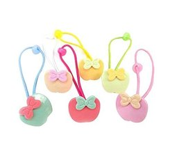 Apples Style Baby Kids Elastic Hair Ponytail Holders Hair Ropes, 12 pieces