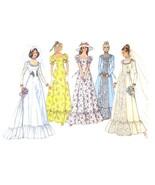 1970s Vintage Simplicity Sewing Pattern 6888 Misses Wedding Dress Train ... - $14.95