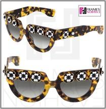 Prada Poeme Flower Chunky PR26PS Brown Havana Exclusive Limited Sunglasses 26P - $490.05
