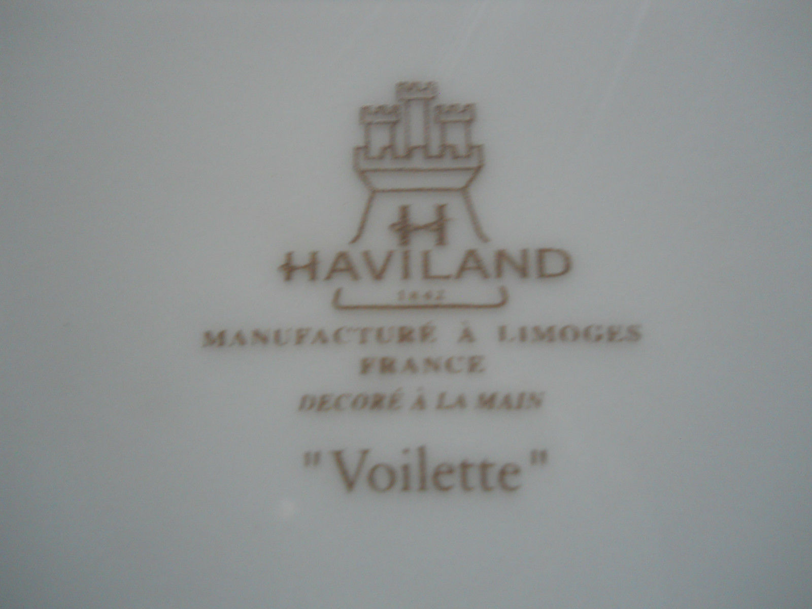 Primary image for Haviland Voilette grey 5 piece place setting