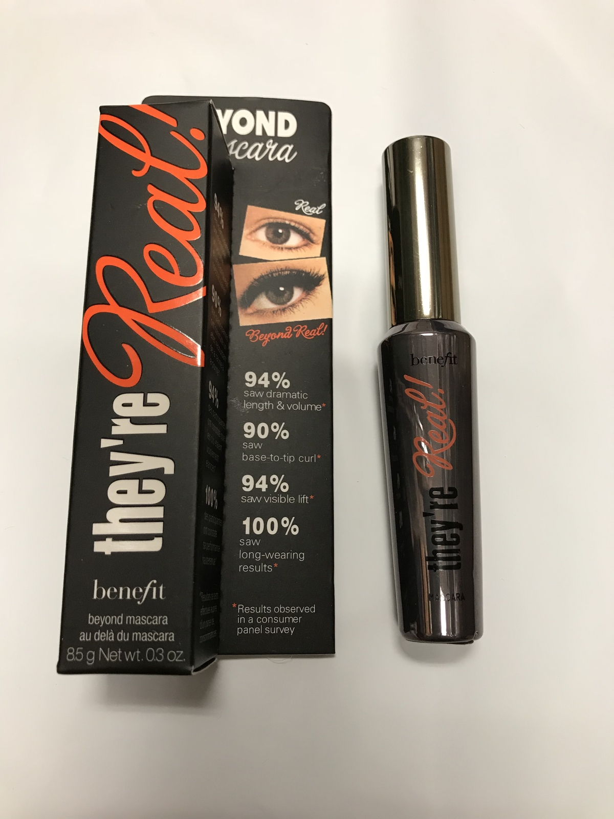BENEFIT- THEY'RE REAL BEYOND MASCARA IN BLACK 0.3 oz/85g