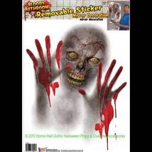 Bloody Horror Bathroom-ZOMBIE MIRROR CLING-Window Sticker Halloween Deco... - $5.91