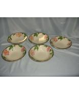 5 Vintage Coupe Cereal Bowls Franciscan China Stoneware Desert Rose USA ... - $64.35