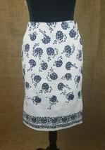 Ann Taylor LOFT womens career skirt size 4 floral cotton blend pockets - $23.76