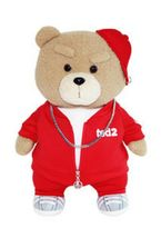 Izen Creation Hippop Stuffed Animal Teddy Bear Plush Toy 35cm 13.7 inches (Red) image 4