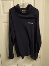 CHAPS Sport Ralph Lauren Mens Blue Long Sleeve Hoodie Hooded Shirt M Vtg 90s - $17.77